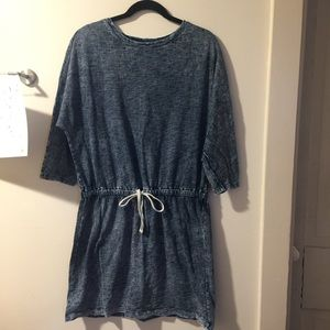 Lou & Grey short drawstring chambray dress